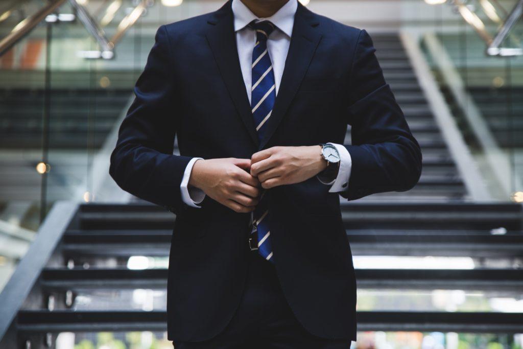 スーツの着方